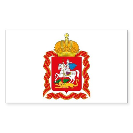 Moscow Coat of Arms Rectangle Sticker
