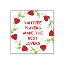 "YAHTZEE.png Square Sticker 3"" x 3"""