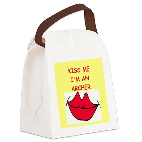 ARCHER.png Canvas Lunch Bag