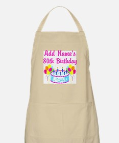 HAPPY 80TH BIRTHDAY Apron