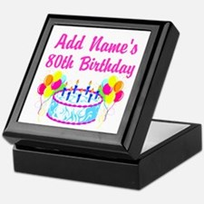 HAPPY 80TH BIRTHDAY Keepsake Box
