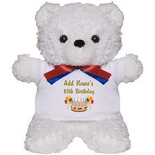 HAPPY 80TH BIRTHDAY Teddy Bear