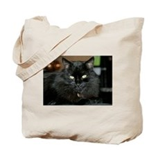Charlie the black Maine Coon Cat Tote Bag