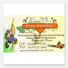 "EM Tree Service Square Car Magnet 3"" x 3"""