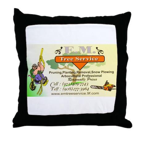 EM Tree Service Throw Pillow