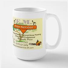 EM Tree Service Large Mug