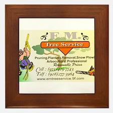 EM Tree Service Framed Tile
