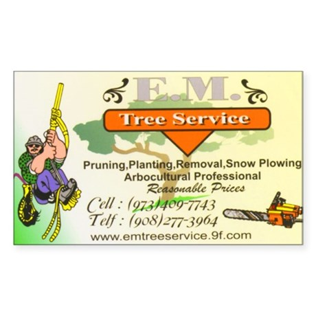 EM Tree Service Sticker (Rectangle)