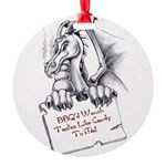 BBQ Wench Dragon Round Ornament