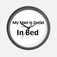 My man is great Wall Clock