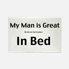 My man is great Rectangle Magnet (10 pack)