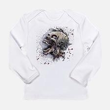 Zombie head Long Sleeve Infant T-Shirt