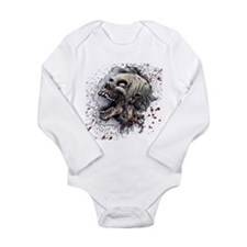 Zombie head Long Sleeve Infant Bodysuit