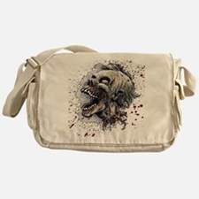 Zombie head Messenger Bag