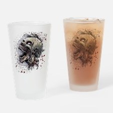 Zombie head Drinking Glass