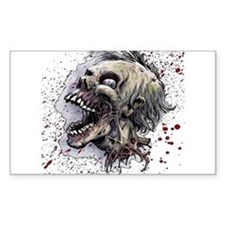 Zombie head Bumper Stickers