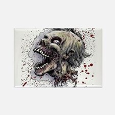 Zombie head Rectangle Magnet