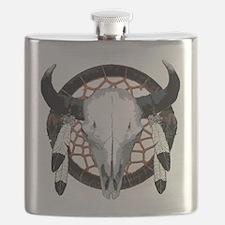 Buffalo skull dream catcher Flask