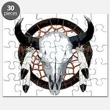 Buffalo skull dream catcher Puzzle