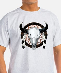 Buffalo skull dream catcher T-Shirt
