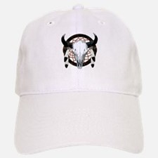 Buffalo skull dream catcher Baseball Baseball Cap