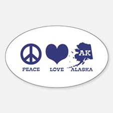 Peace Love Alaska Decal