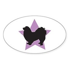 Pekingese Oval Decal
