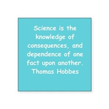 "hobbes8.png Square Sticker 3"" x 3"""