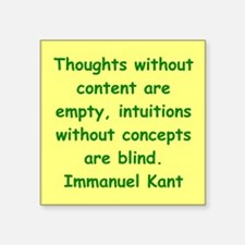 """kant114.png Square Sticker 3"""" x 3"""""""