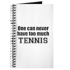 Never Too Much TENNIS Journal