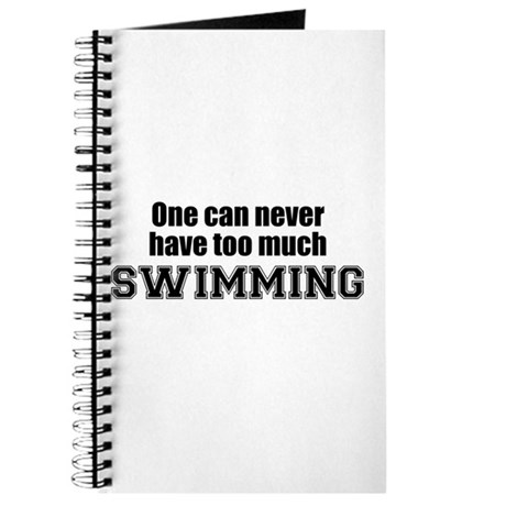 Never Too Much SWIMMING Journal