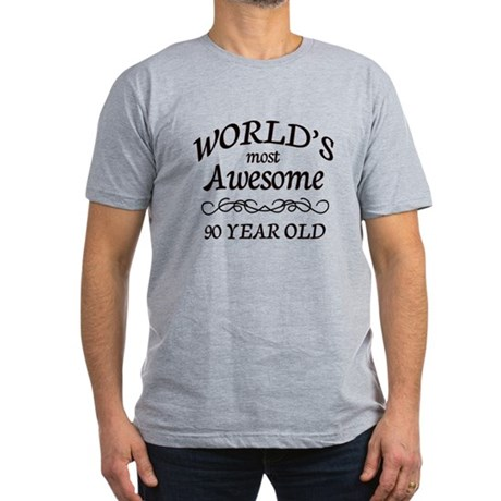 90 Year Old Men's Fitted T-Shirt (dark)