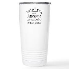 Awesome 90 Year Old Travel Mug