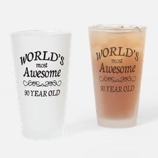 Awesome 90 Year Old Drinking Glass