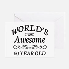 Awesome 90 Year Old Greeting Card
