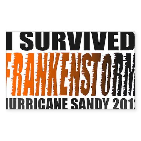Frankenstorm Hurricane Sandy 2012 Sticker (Rectang