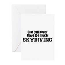Never Too Much SKYDIVING Greeting Cards (Package o