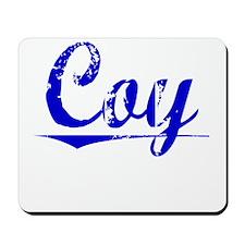 Coy, Blue, Aged Mousepad