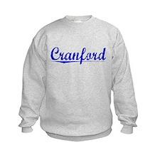 Cranford, Blue, Aged Sweatshirt