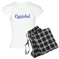 Cristobal, Blue, Aged Pajamas