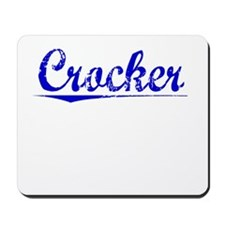Crocker, Blue, Aged Mousepad