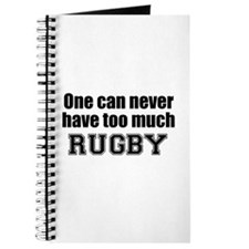 Never Too Much RUGBY Journal