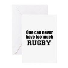 Never Too Much RUGBY Greeting Cards (Pk of 10)