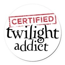 Certified Twilight Addict Round Car Magnet