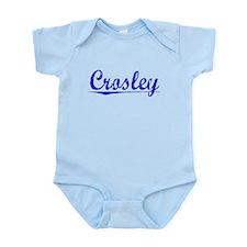 Crosley, Blue, Aged Onesie