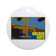 Golden Gate Ornament (Round)