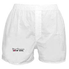 West Virginia Loving girl Boxer Shorts