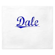 Dale, Blue, Aged King Duvet