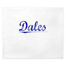 Dales, Blue, Aged King Duvet
