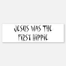 Jesus Was The First Hippie Sticker (Bumper)